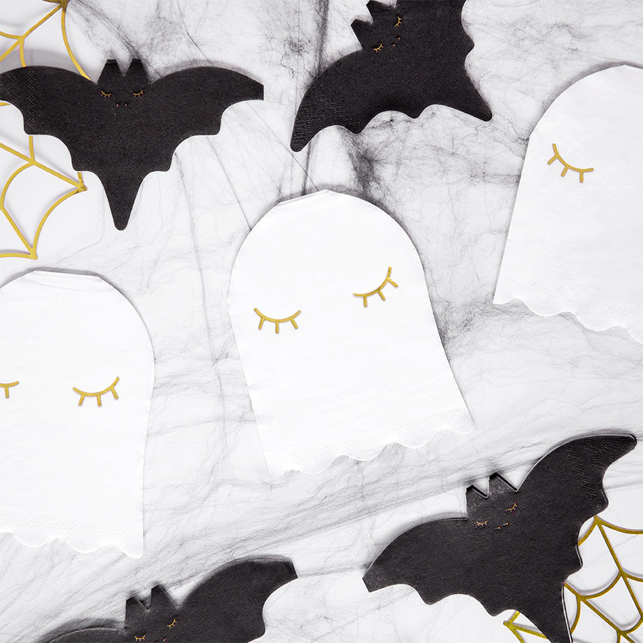 Cute Ghost Shaped Paper Napkins