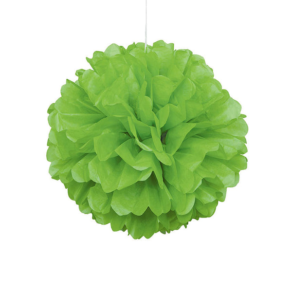 Green Pom Pom Hanging Decoration  Tissue Pom Pom HelloPartyUK - Hello Party
