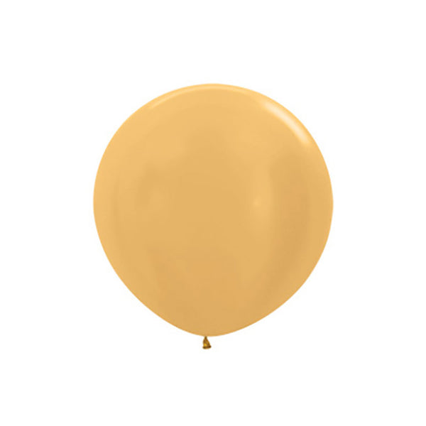"Big Round Gold Latex Balloon 24""  Big Round Latex Balloons Hello Party Essentials - Hello Party"