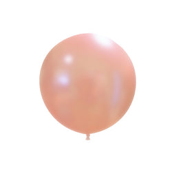 "Metallic Peach Big Round Balloon (18"")  Big Round Latex Balloons Hello Party Essentials - Hello Party"