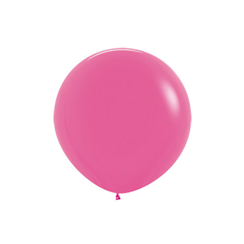 "Big Round Fuchsia Latex Balloon 24""  Big Round Latex Balloons Hello Party Essentials - Hello Party"