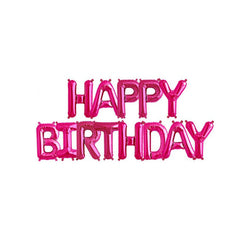 Hot Pink Happy Birthday Foil Balloon Kit  Balloons Hello Party - All you need to make your party perfect! - Hello Party