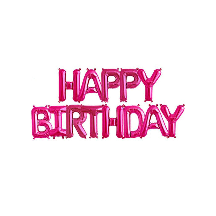 HAPPY BIRTHDAY - Magenta 16 inch Foil Letter Pack