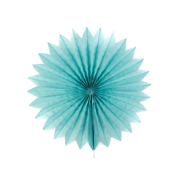Mint Pretty Starburst Paper Fans