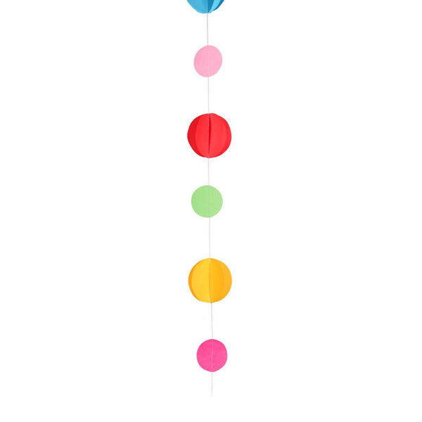 Primary Colour Circles Balloon Tail Party Decorations