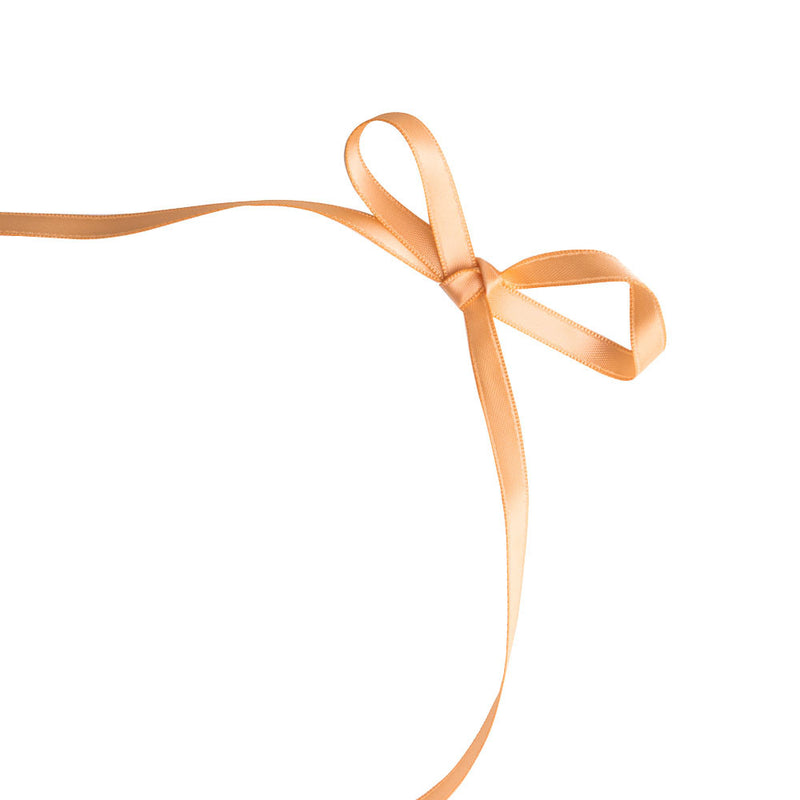 Peach 6mm Satin Ribbon  Satin Ribbon Eleganza - Hello Party