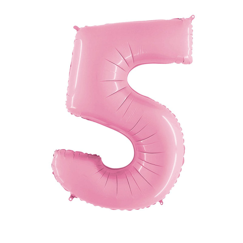 "Large Light Pink Number Foil Balloons (26"")  Balloons Grabo Balloons - Hello Party"