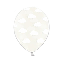 Clear Cloud Pattern Balloons (Pack of 3)  Printed Latex Balloons Hello Party Essentials - Hello Party