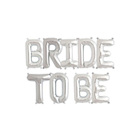 BRIDE TO BE - Silver 16 inch Foil Letter Pack - Hello Party - All you need to make your party perfect!