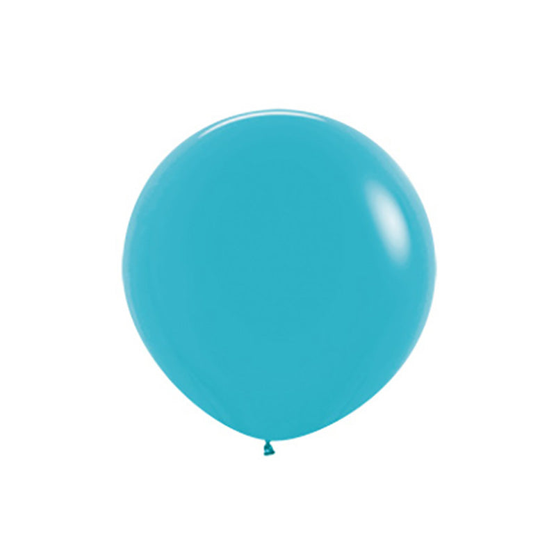 "Big Round Caribbean Blue Latex Balloon 24""  Big Round Latex Balloons Hello Party Essentials - Hello Party"