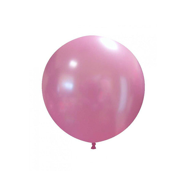 "Metallic Pink Big Round Balloon (18"")  Big Round Latex Balloons Hello Party Essentials - Hello Party"