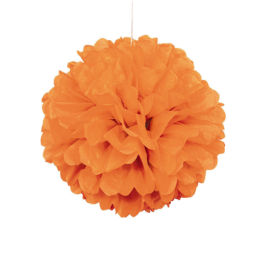 Orange Pom Pom Hanging Decoration