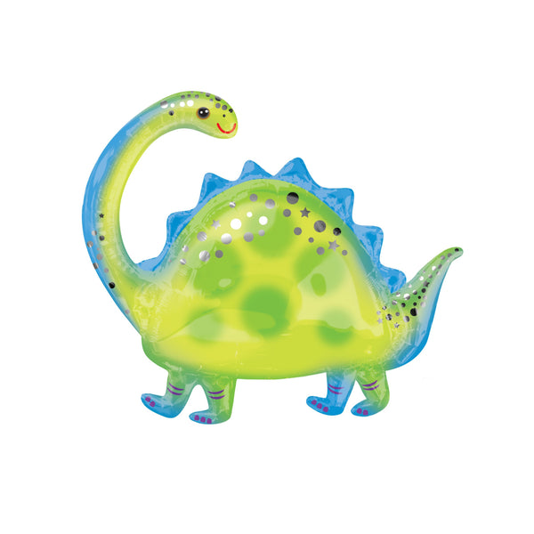 "Brontosaurus Dinosaur Foil Balloon (32"")  Balloons Anagram - Hello Party"
