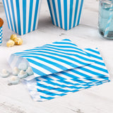 Blue striped treat bags - Hello Party - All you need to make your party perfect!