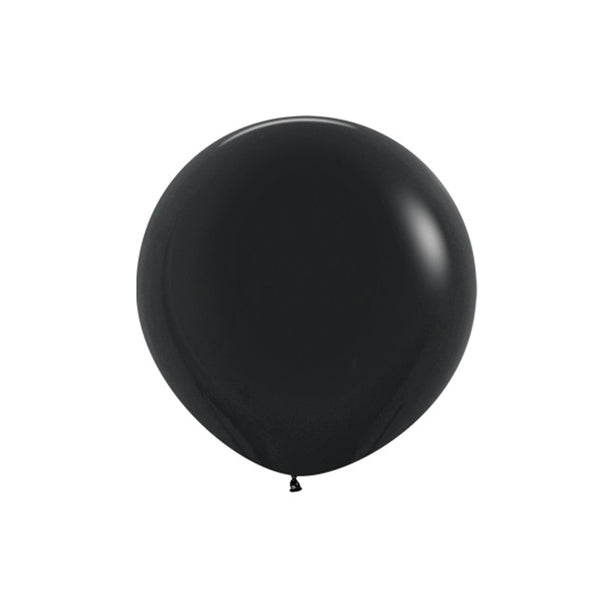 "Big Round Black Latex Balloon 24""  Big Round Latex Balloons Hello Party Essentials - Hello Party"