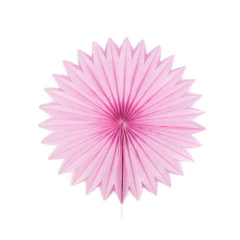 Light Pink Pretty Starburst Paper Fans