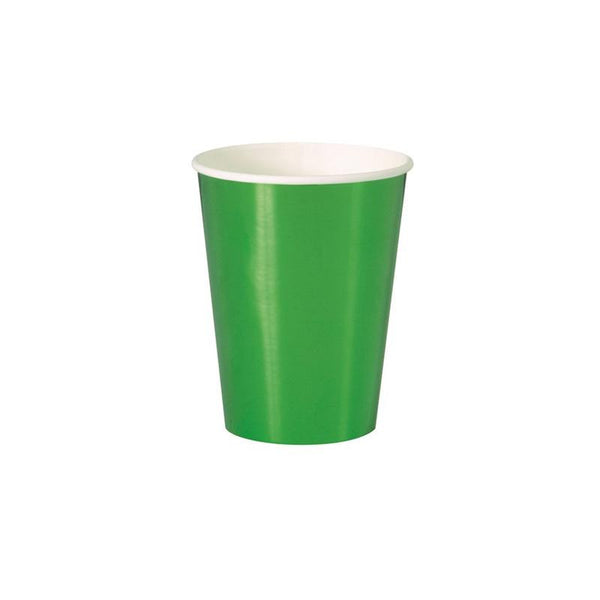 Shiny Metallic Green Large Paper Cups