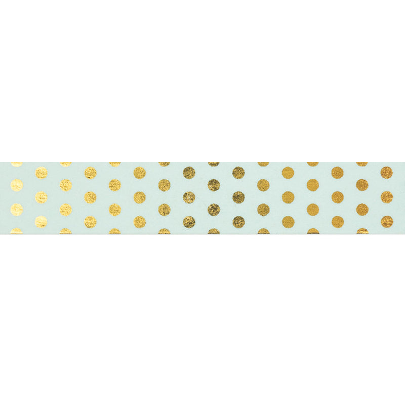 Mint with Gold Spots Washi Tape  Washi Tape Hello Party Essentials - Hello Party