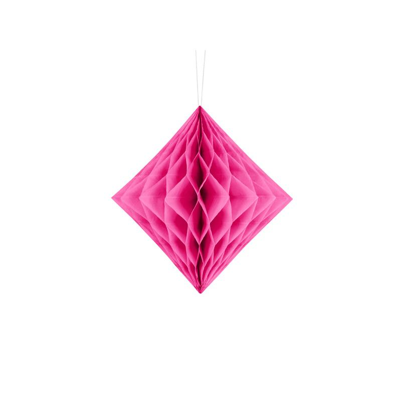 Diamond Honeycomb - Dark Pink  Honeycomb Decorations Party Deco - Hello Party