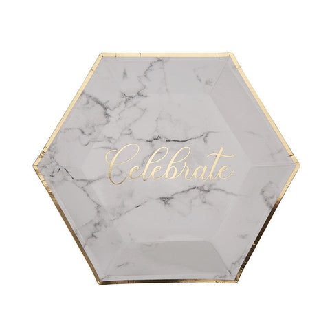 Celebrate Marble Large Plate (pack of 8)