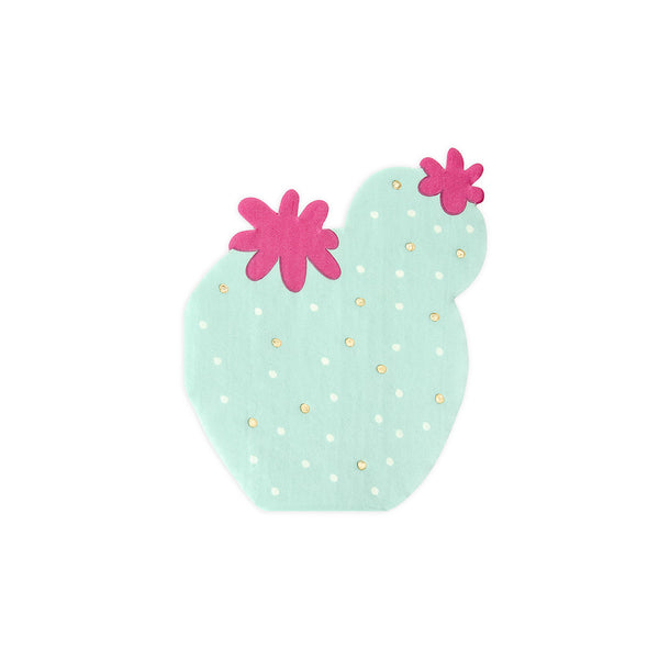 Pastel Cactus Shaped Paper Party Napkins