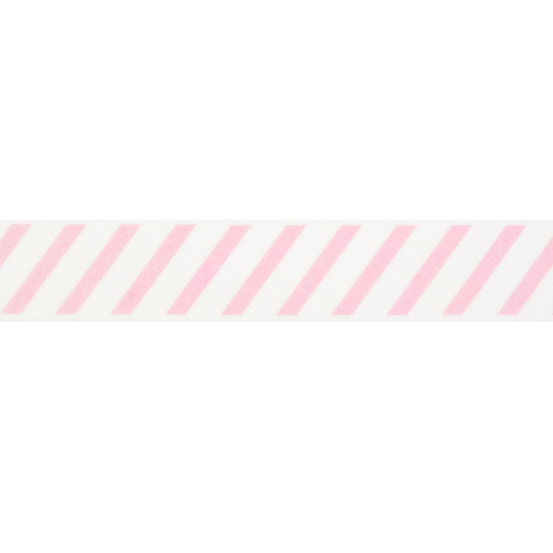 Pink Diagonal Striped Washi Tape  Washi Tape Hello Party Essentials - Hello Party