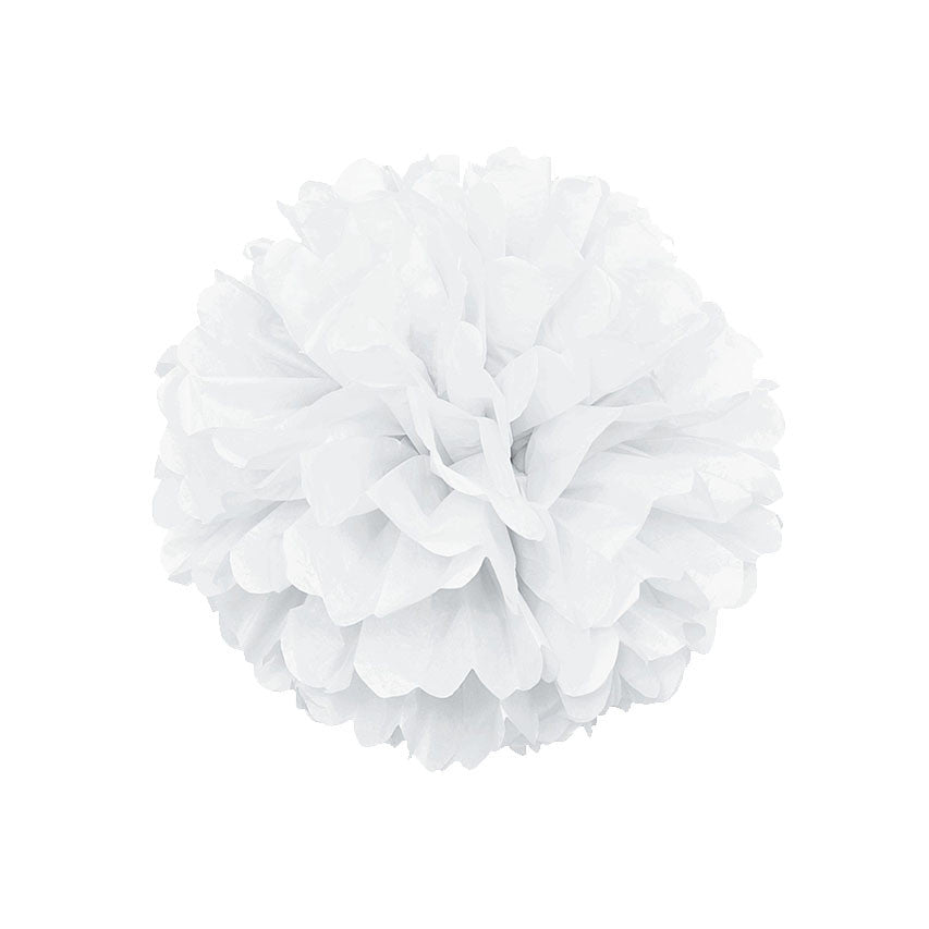 White Pom Pom Hanging Decoration