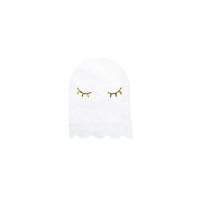 Cute Ghost Shaped Paper Napkins  Napkins Party Deco - Hello Party