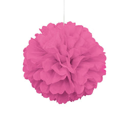 Pink Pom Pom Hanging Decoration  Tissue Pom Pom HelloPartyUK - Hello Party