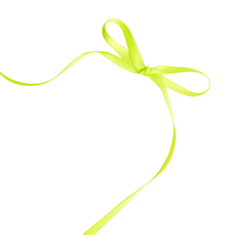 Lime Green 6mm Satin Ribbon