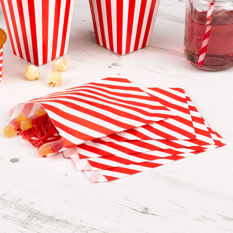 Red striped treat bags  Party Bags Neviti - Hello Party