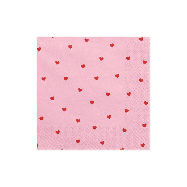 Little Heart Print Napkins  Napkins Party Deco - Hello Party