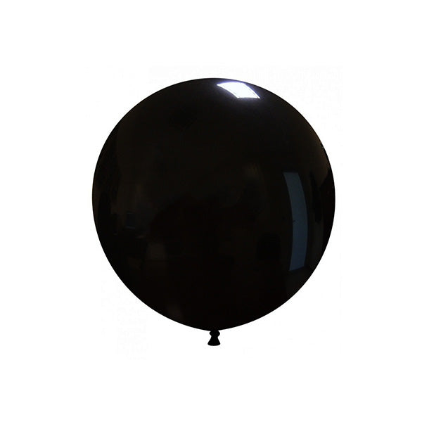 "Black Big Round Balloon (19"")  Big Round Latex Balloons Hello Party Essentials - Hello Party"