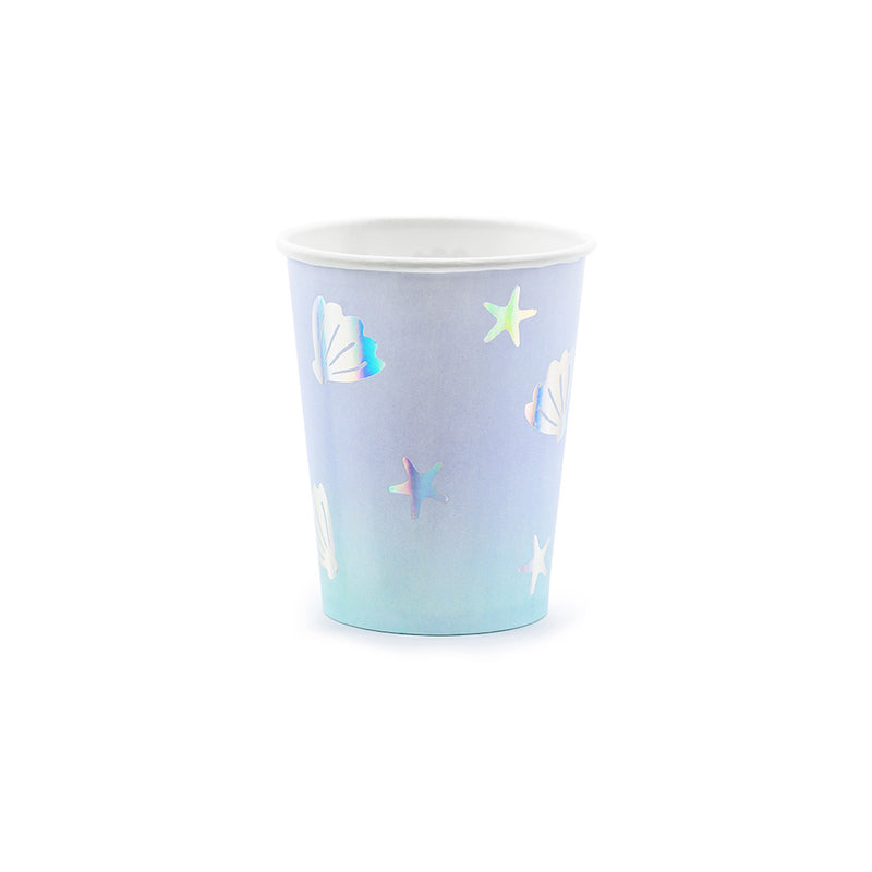 Iridescent Seashell Ombre Paper Cups  Party Cups Party Deco - Hello Party