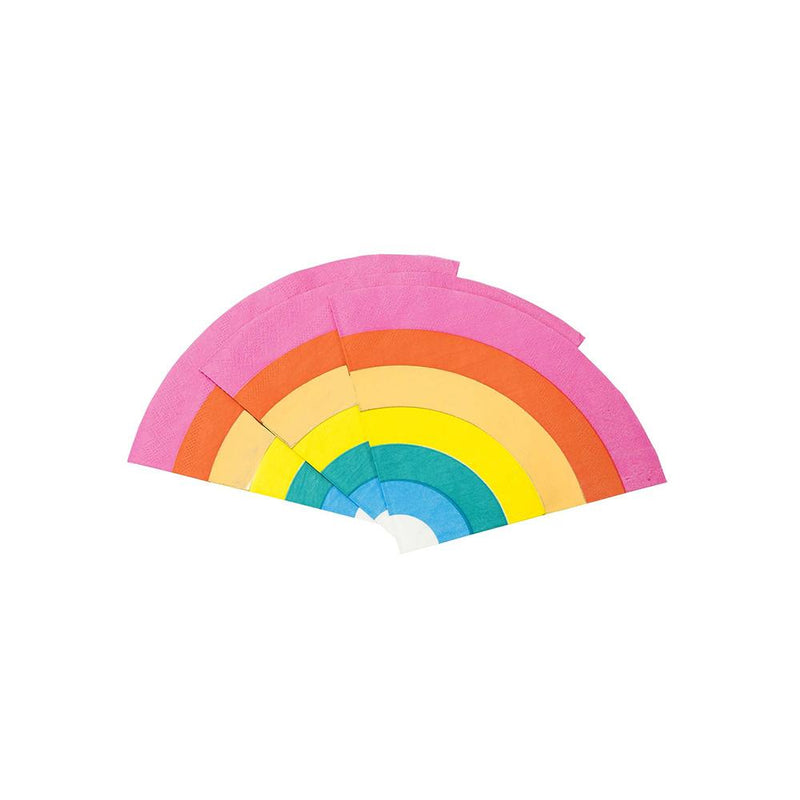 Birthday Brights Rainbow Shaped Napkins  Napkins Talking Tables - Hello Party