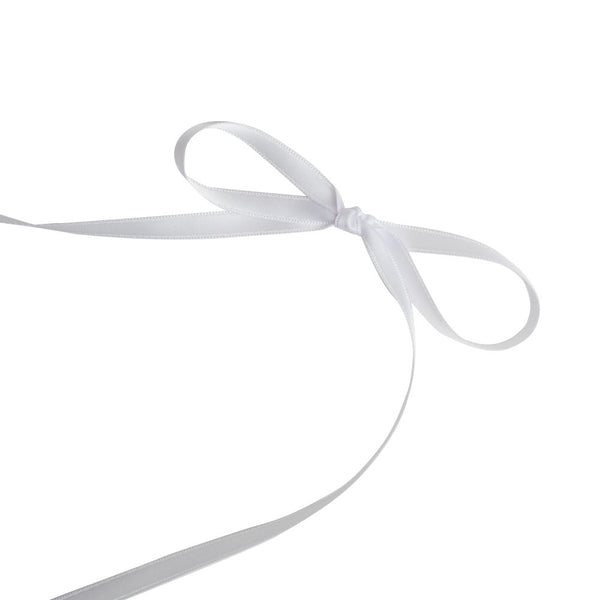White 6mm Satin Ribbon  Satin Ribbon Eleganza - Hello Party