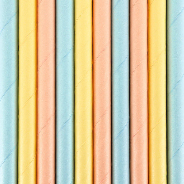 Pretty Pastel Paper Party Straws
