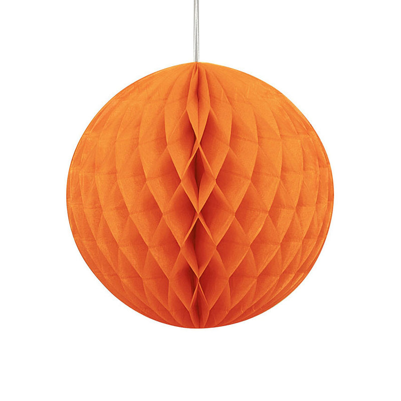 Orange Hanging Honeycomb Decoration