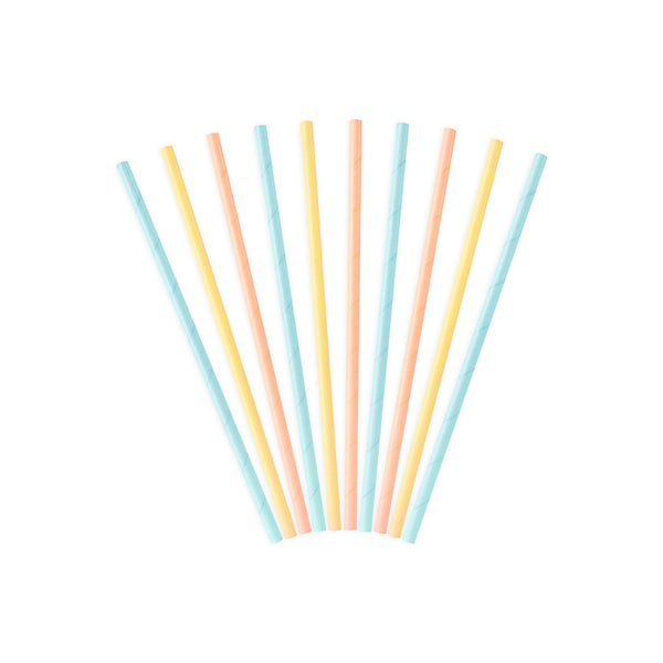 Pretty Pastel Paper Straws  Paper Straws Party Deco - Hello Party