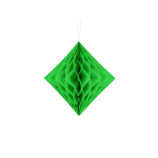 Diamond Honeycomb - Green  Honeycomb Decorations Party Deco - Hello Party
