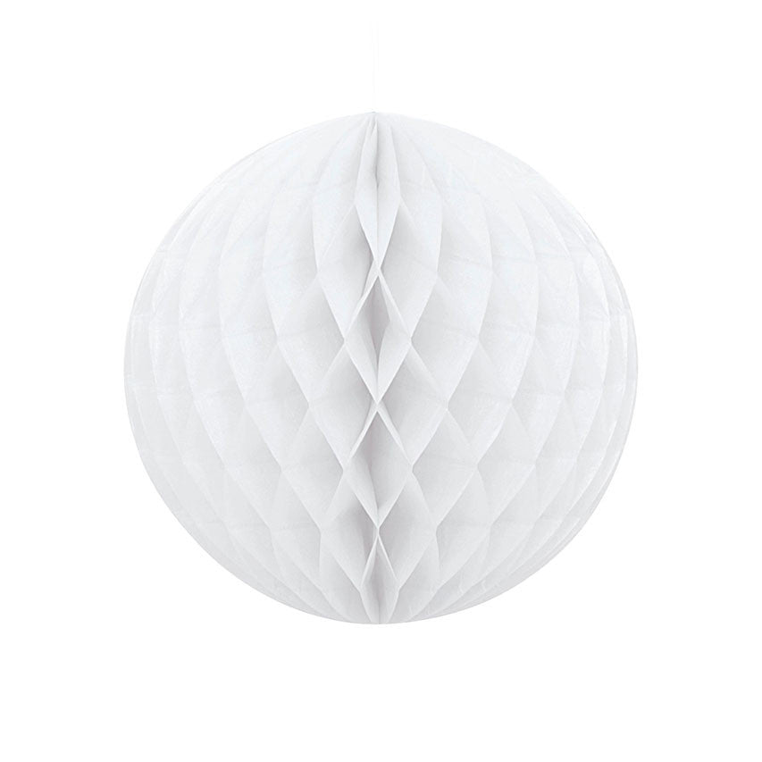 White Hanging Honeycomb Decoration