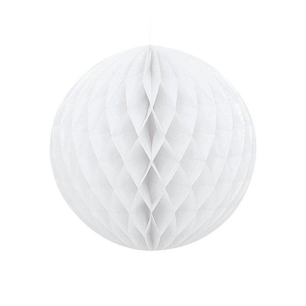 White Hanging Honeycomb Decoration  Honeycomb Decoration HelloPartyUK - Hello Party