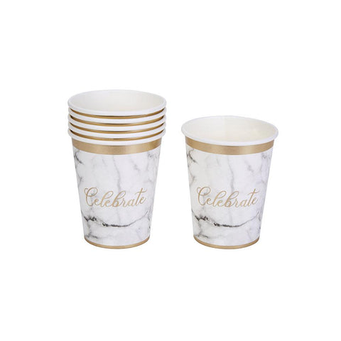Celebrate Marble Cups (pack of 8)