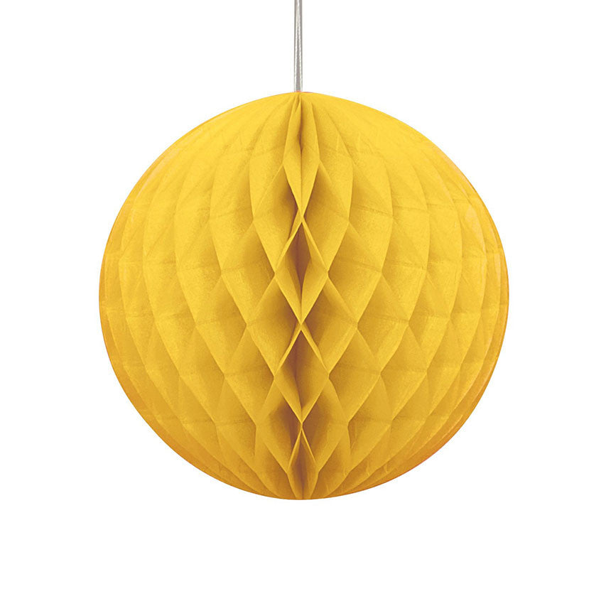 Yellow Hanging Honeycomb Decoration
