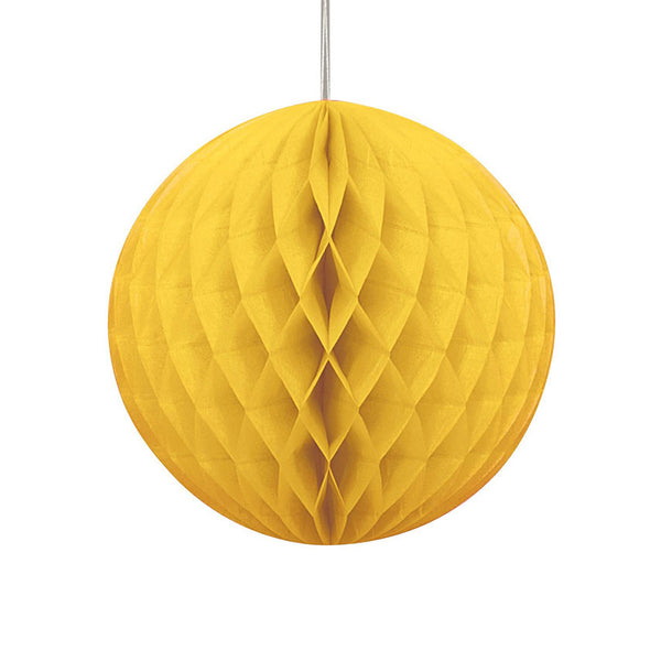 Yellow Hanging Honeycomb Decoration  Honeycomb Decoration HelloPartyUK - Hello Party
