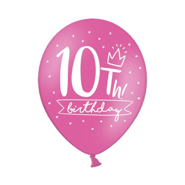10th Birthday Balloon Single Printed Latex Balloons Party Deco