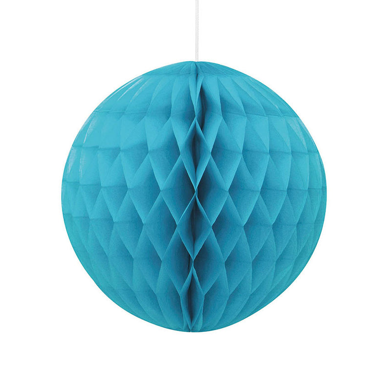 Caribbean Teal Hanging Honeycomb Decoration  Honeycomb Decoration HelloPartyUK - Hello Party