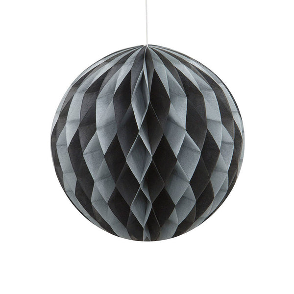 Black & Silver Hanging Honeycomb Decoration  Honeycomb Decoration HelloPartyUK - Hello Party