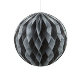 Black & Silver Hanging Honeycomb Decoration - Hello Party - All you need to make your party perfect!