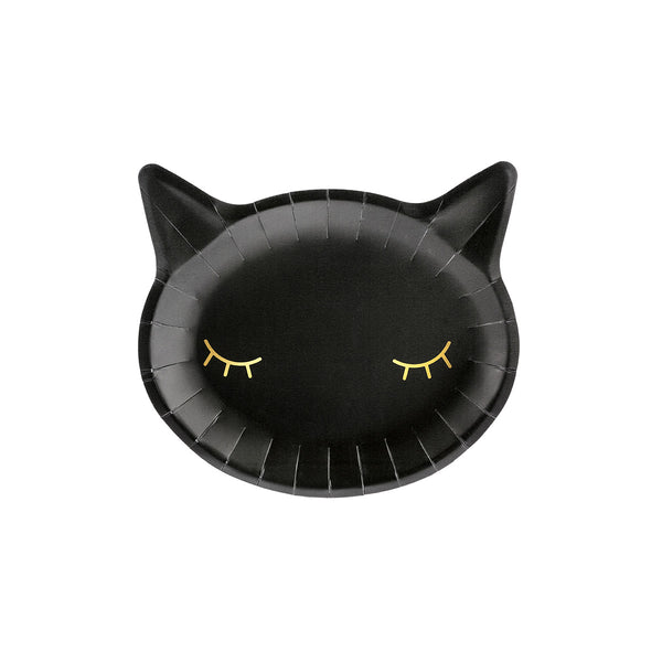Black Cat Halloween Party Plates  Party Plates Party Deco - Hello Party